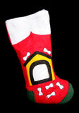 Dog christmas stocking Royalty Free Stock Image