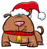 Dog on Christmas time cartoon Stock Images