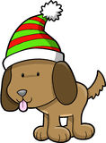 Dog Christmas Vector. Cute Dog Christmas Vector Illustration Stock Photography