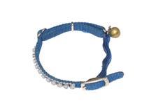Dog collar. Closeup of dog collar on white background Royalty Free Stock Image