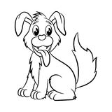 Dog coloring book. Royalty Free Stock Images