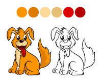 Dog coloring book. Stock Photography