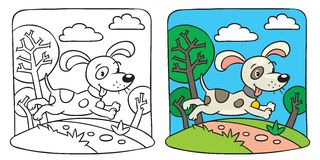 Dog. Coloring book Stock Photography