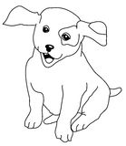 Dog coloring page Stock Image