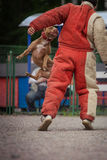 Dog competition, police dog training, dogs sport Royalty Free Stock Photos