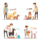 Dog Concept Icons Set. With walking and washing symbols cartoon  vector illustration Royalty Free Stock Photo
