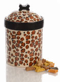 Dog cookie jar Stock Images