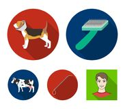 Dog, cow, cattle, pet .Vet Clinic set collection icons in flat style vector symbol stock illustration web. Dog, cow, cattle, pet .Vet Clinic set collection Stock Photography
