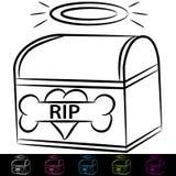Dog Cremation Box Stock Photo