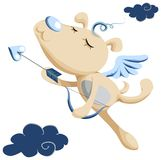 Dog Cupid for your with love stock illustration