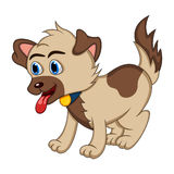 Dog - Cute Puppy Cartoon Royalty Free Stock Image
