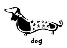 Dog dachshund. Handdrawn vector illustration Stock Photo