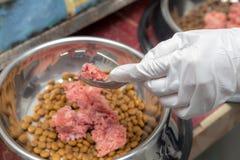 Dog& de mezcla x27; comida de s Imagen de archivo