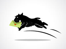 Dog delivery royalty free illustration