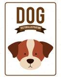 Dog design. Dog grafic  design , vector illustration Stock Image