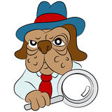 Dog Detective Cartoon Stock Photography
