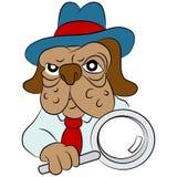 Dog Detective Cartoon Stock Photography