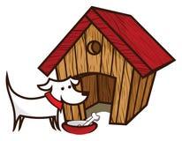 Dog and dog House Stock Photography