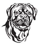 Dog Dogue de Bordeaux传染媒介例证装饰画象  向量例证
