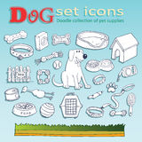Dog doodle icons Royalty Free Stock Photography