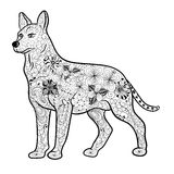 Dog doodle Royalty Free Stock Image