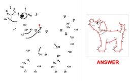 Dog - dot game. Stock Image