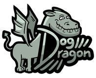 Dog dragon Stock Photos