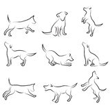 Dog drawing set Royalty Free Stock Images