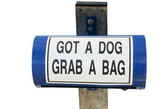 Dog dropping bag dispenser Royalty Free Stock Image
