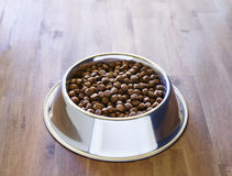 Dog dry food in the bowl Royalty Free Stock Photos