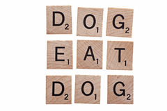 Dog eat dog Royalty Free Stock Image