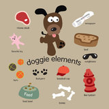 Dog Elements Set Royalty Free Stock Photos