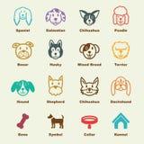Dog elements Royalty Free Stock Photos