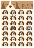 Dog emoji icons Royalty Free Stock Images