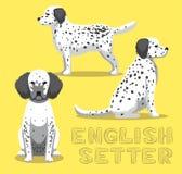 Dog English Setter Cartoon Vector Illustration Royalty Free Stock Photo
