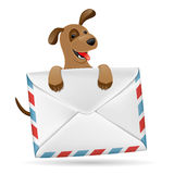 Dog with envelope. Royalty Free Stock Images