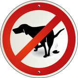 Dog excrement to ban Royalty Free Stock Image