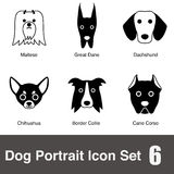 Dog face character icon design series Stock Photo