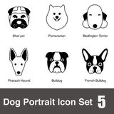 Dog face character icon design series Royalty Free Stock Photography