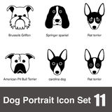 Dog face character icon design series Royalty Free Stock Photo