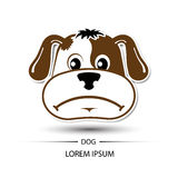 Dog face frown logo and white background  Stock Images
