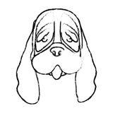 Dog face icon. Over white background. illustration royalty free stock photo