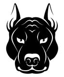 Dog face symbol Royalty Free Stock Images