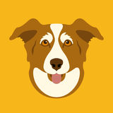 Dog face vector illustration style flat front Stock Image