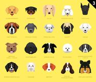 Dog Faces Icon Cartoon 3. Dog Faces EPS10 File Format vector illustration