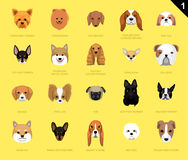 Dog Faces Icon Cartoon. Dog Head Icons EPS10 File Format Royalty Free Stock Image