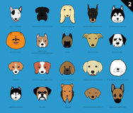 Dog Faces Stroke Icon Cartoon 2 Royalty Free Stock Photos
