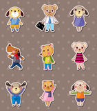 Dog family stickers Stock Photos