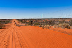 Dog fence Australian outback. Royalty Free Stock Image