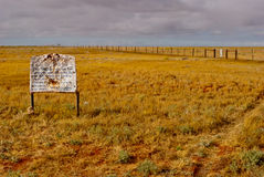 The Dog Fence, South Australia Royalty Free Stock Images